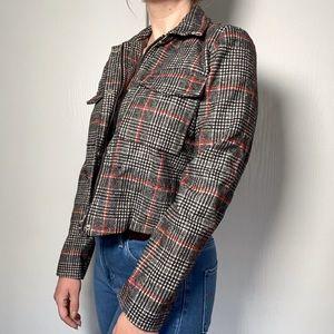 NWT Ivy + Main Cropped Plaid Jacket